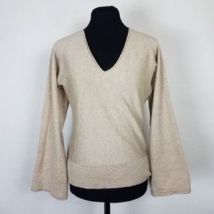 Ann Taylor Womens Size Medium Sweater Metallic
